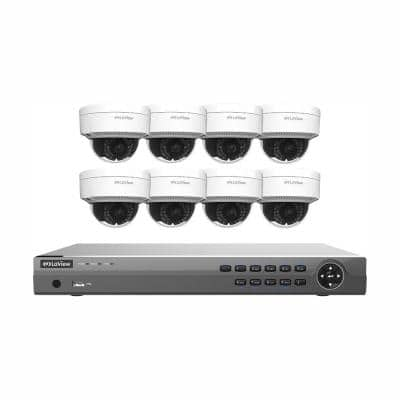 16-Channel Full HD IP Indoor/Outdoor Surveillance 3TB NVR System (8) Dome 1080P Cameras Remote View Motion Record