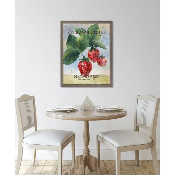 Melissa Van Hise Seed Packet Strawberries Framed Giclee Vintage Art Print 15 In X 19 In Ip11359 The Home Depot
