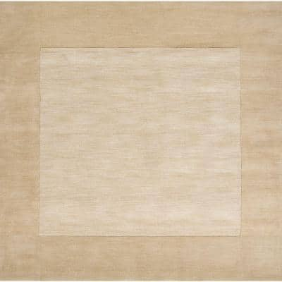 Foxcroft Tan 10 ft. x 10 ft. Indoor Square Area Rug