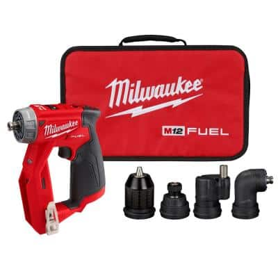M12 FUEL 12-Volt Lithium-Ion Brushless Cordless 4-in-1 Installation 3/8 in. Drill Driver with 4 Tool Head (Tool-Only)