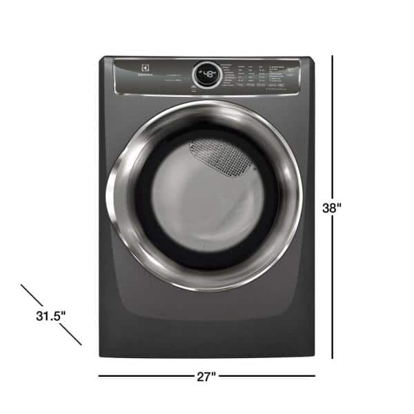 Electrolux 8.0 cu. ft. Electric Dryer with Steam, Predictive Dry in  Titanium, ENERGY STAR-EFME627UTT - The Home DepotThe Home Depot