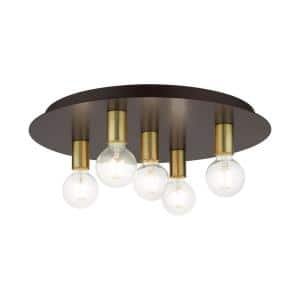 Hillview 5 Light Bronze Flush Mount