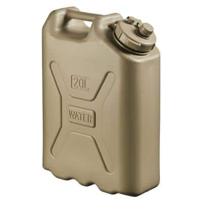 Lightweight BPA 5 Gal. 20 l Portable Water Storage Container in Sand