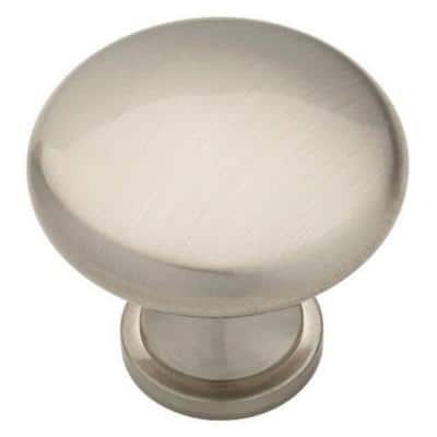 Classic Round 1-3/4 in. (45 mm) Satin Nickel Oversized Solid Cabinet Knob