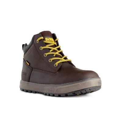 Men's Helix WP Waterproof 6 in. Work Boots - Steel Toe - Brown Size 10.5(M)