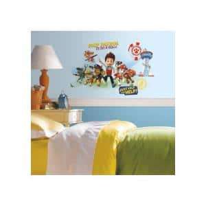 5 in. x 19 in. Paw Patrol Wall Graphix 6-Piece Peel and Stick Giant Wall Decal