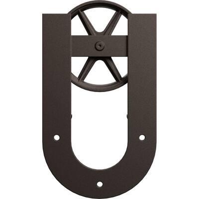 1-5/8 in. x 8 in. x 13-5/8 in. Steel Premium Wagon Wheel Horseshoe Roller Hanger Moulding Bronze Texture