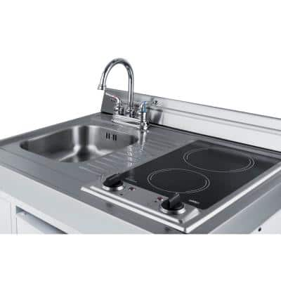 39 in. Compact Kitchen in White