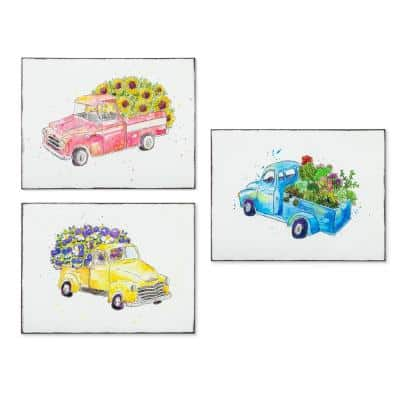 Embossed Truck Wall Decor (Set of 3)