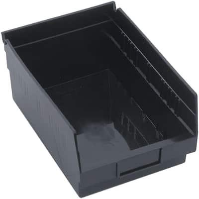 7 Qt. Recycled Shelf Storage Tote in Black (20-Pack)