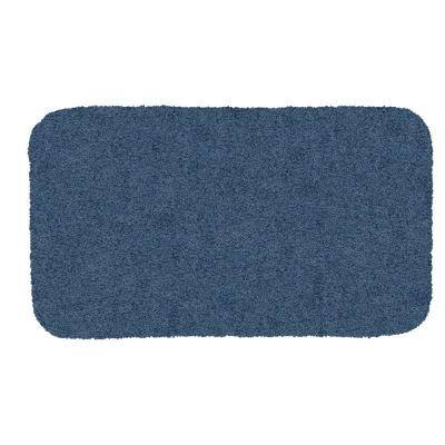 Acclaim Denim 20 in. x 34 in. Nylon Machine Washable Bath Mat