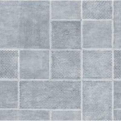 Ellison Blue Geometric Blue Wallpaper Sample