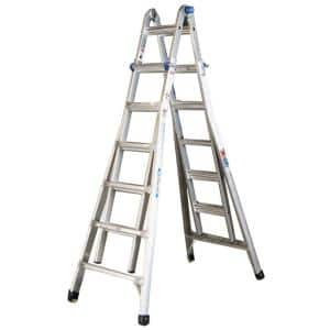 26 ft. Reach Aluminum Telescoping Multi-Position Ladder with 300 lbs. Load Capacity Type IA Duty Rating