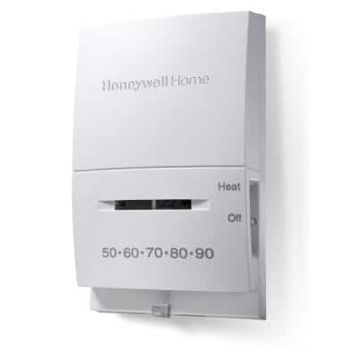 Vertical Non-Programmable Thermostat with Microvolt 1H Single Stage Heating