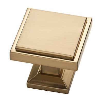 Classic Square 1-1/9 in. (28 mm) Champagne Bronze Cabinet Knob
