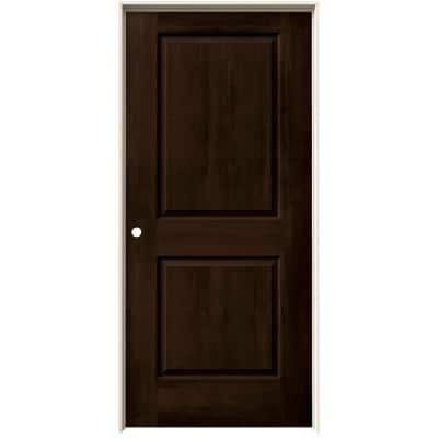 36 in. x 80 in. Cambridge Espresso Stain Right-Hand Solid Core Molded Composite MDF Single Prehung Interior Door