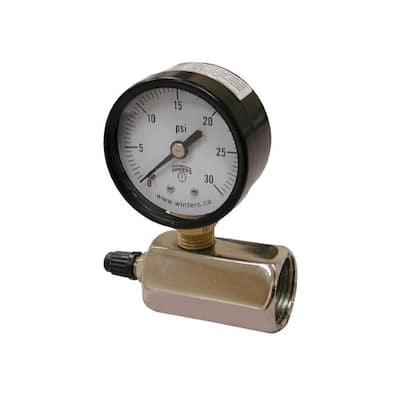 30 psi Gas Test Gauge Assembly