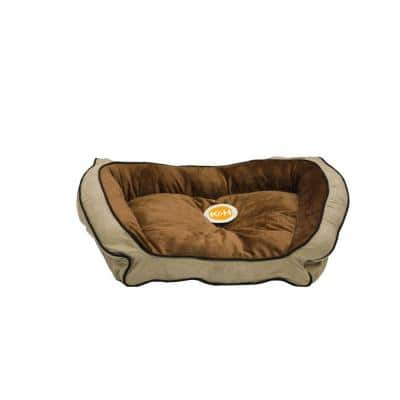 Bolster Couch Large Mocha/Tan Pet Bed