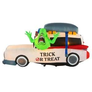 3.5 ft. Ecto 1 with Slimer Halloween Inflatable