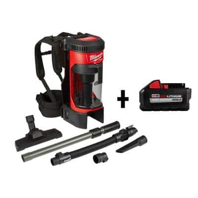 M18 FUEL 18-Volt Lithium-Ion Brushless 1 Gal. Cordless 3-in-1 Backpack Vacuum with HIGH OUTPUT XC 8.0 Ah Battery