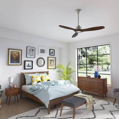 Melbourne 52 in. Indoor Brushed Nickel Ceiling Fan with Wall Control