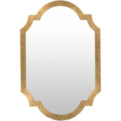 Large Rectangle Gold Contemporary Mirror (45 in. H x 30 in. W)
