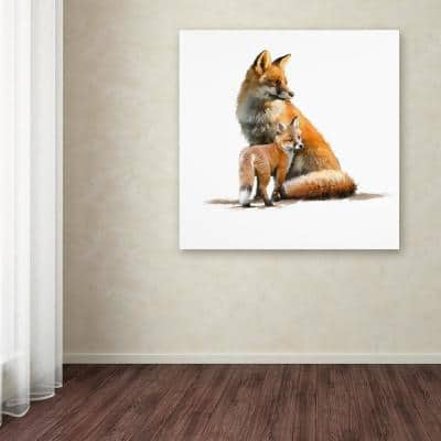 """24 in. x 24 in. """"Fox"""" by The Macneil Studio Printed Canvas Wall Art"""