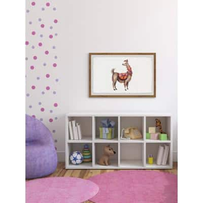 """20 in. H x 30 in. W """"Trendy Llama"""" by Marmont Hill Framed Printed Wall Art"""