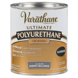 1 qt. Clear Semi-Gloss 275 VOC Oil-Based Interior Polyurethane (2-Pack)