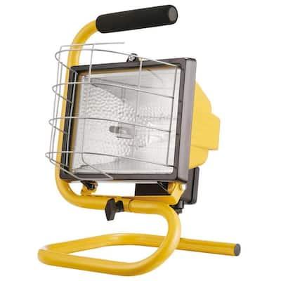 500W Portable Halogen Yellow Work Light