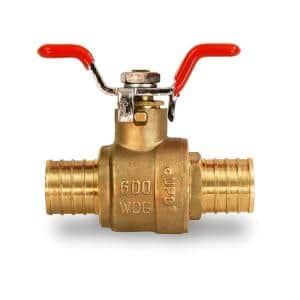 1/2 in. Full Port PEX Barb Ball Valve Water Shut Off with Tee Handle