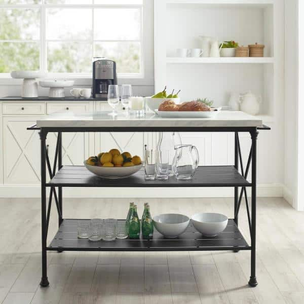 Madeleine Black Kitchen Island Cf3024 Mb The Home Depot