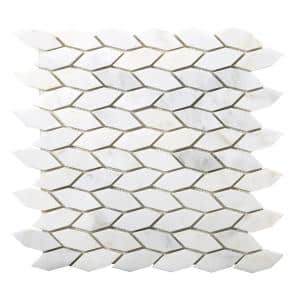 Marble Winter Frost Honed 12.01 in. x 12.01 in. x 10 mm Marble Mesh-Mounted Mosaic Tile (1.01 sq. ft.)