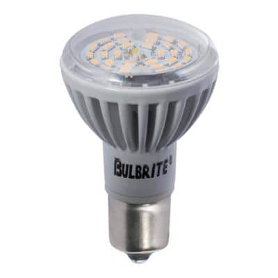 20-Watt Equivalent R12 Non-Dimmable LED Reflector Elevator Light Bulb with Single Contact Bayonet Base, Soft White