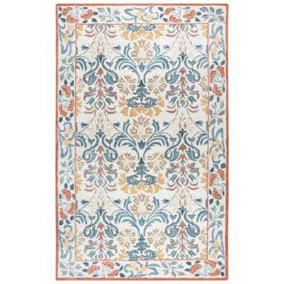 Lavine Multicolor 9 ft. x 12 ft. Hand Tufted Wool Area Rug