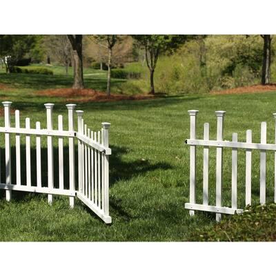 5.2 ft. x 2.5 ft. White Vinyl Madison Fence Gate