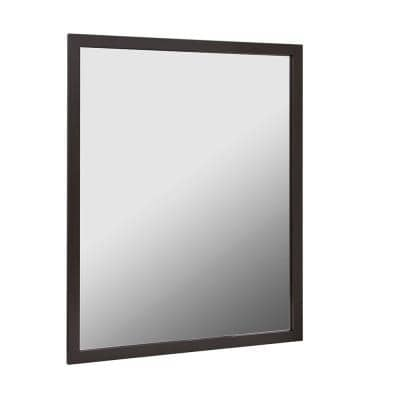 Reflections 30 in. W x 36 in. H Single Framed Wall Mirror in Oil Rubbed Bronze