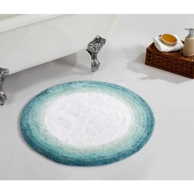 """Torrent Collection Turquoise 30"""" x 30"""" 100% Cotton Bath Rug"""