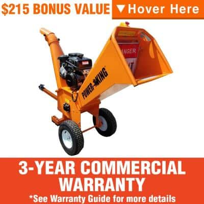 5 in. 14 HP Kohler Gas Powered Chipper Shredder Kit with Extended Axle, Extra Blades, Removeable Tow Bar and Cover