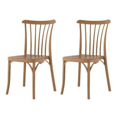 Stackable Rio Tan Dining Chair (Set of 2)