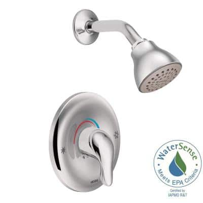 Chateau Single-Handle 1-Spray Shower Faucet in Chrome (Valve Included)