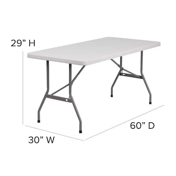 60 In Granite White Plastic Tabletop Metal Frame Folding Table Cga Rb 5833 Gr Hd The Home Depot
