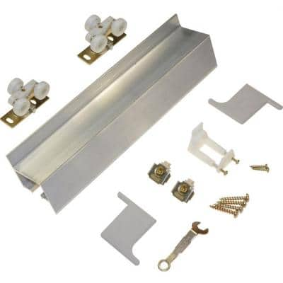 72 in. Wall Mount (Barn Door) Track and Hardware Set