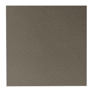 Hammered Pattern 19.69 in. x 19.69 in. Lunar Dust Rubber Tile