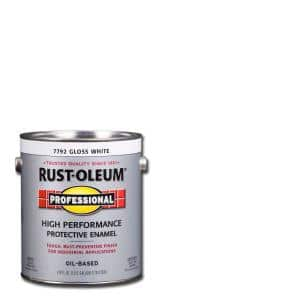 1 gal. High Performance Protective Enamel Gloss White Oil-Based Interior/Exterior Paint