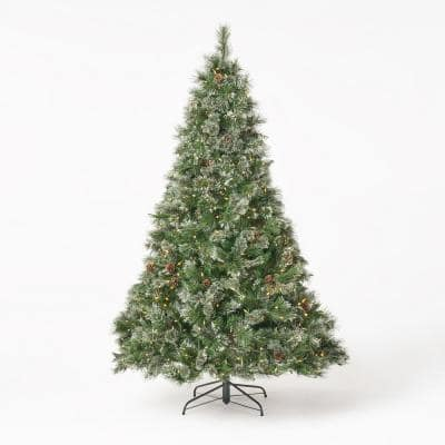7 ft. Pre-Lit LED Cashmere Pine Artificial Christmas Tree with 900 Clear Lights