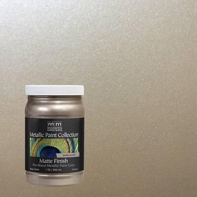 1 qt. Warm Silver Water-Based Matte Metallic Interior Paint