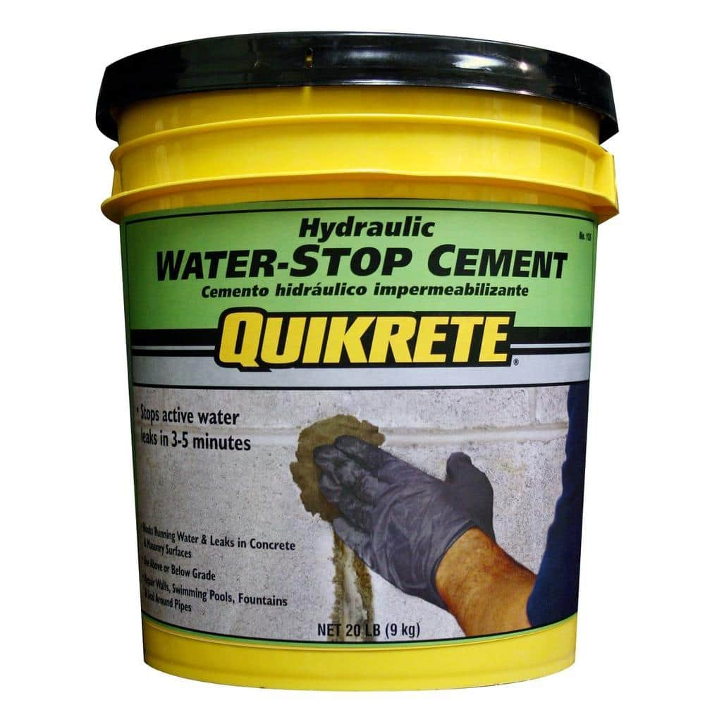 Quikrete 20 Lb Hydraulic Water Stop Cement Concrete Mix 112620 The Home Depot