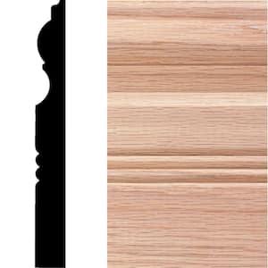 3/4 in. x 6-1/2 in. x 8 ft. Oak Wood Victorian Baseboard Moulding