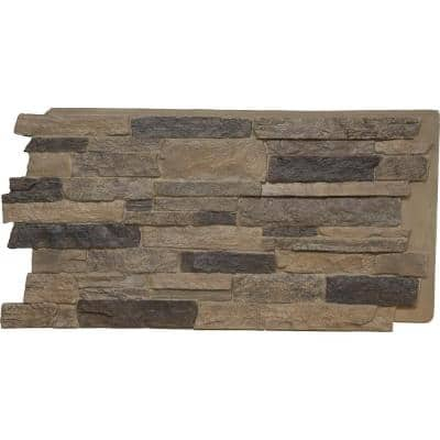 49 in. x 25-1/2 in. Acadia Ledge Stacked Stone, StoneWall Faux Stone Siding Panel